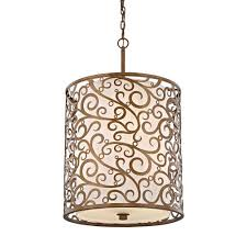 fifth and main lighting 6 light burnished gold pendant with