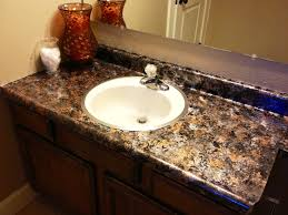 Painted Bathroom Countertops Painting Bathroom Countertops To Look Like Granite How To Paint A