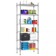 nsf wire shelf organizer 6 wire shelving unit metal storage shelves heavy duty 0