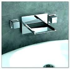 wall mount waterfall tub faucet wall mount waterfall tub faucet led mounted bath filler reston wall