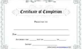 free certificate of completion template certificate of completion template free download of completion