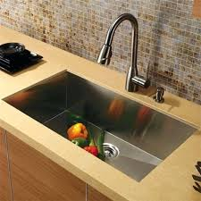 top mount kitchen sink and faucet combo kraus gauge stainless steel zero edge single bowl