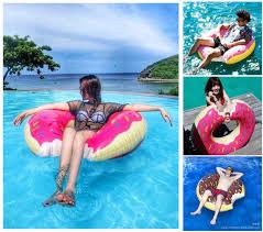 INFLATABLE SWIM Ring Giant Fun Bite Shape Donut Swimming Pool Water