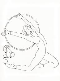 Small Picture Gymnastics Coloring Pages for Girls FITFRU Style