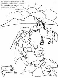Good Samaritan Color Page Crafts For Bible Stories Coloring Home