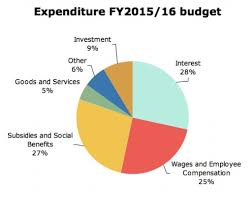 Us Federal Budget Pie Chart 2015 A Visual Guide To The 2016 17 Budget Mada Masr