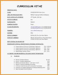 Combination Resume Sample 2018 Gallery Of 7 Latest Cv Format 2016