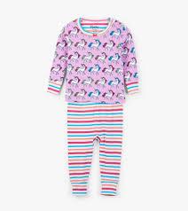 Hatley Baby Size Chart Rainbow Unicorns Organic Cotton Baby Pajama Set