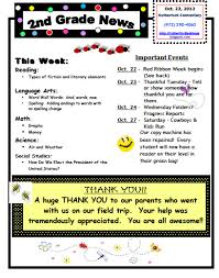 Weekly Newsletter Template Unique 48nd Grade Weekly Newsletter Template Dermac