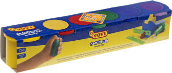 Тесто для <b>лепки JOVI</b> в баночках 5 цветов х 110 г — купить в ...