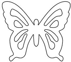 Outline Coloring Printable Paper Butterfly Pictures Printable