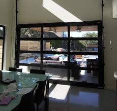 Glass Garage Doors Black Anodized Frames Clear Glass Door Tech