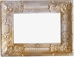 gold metallic pattern photo frame frame clipart metal frames gold frame png image