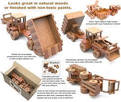 super reallywood big farm tractor grain dumper full size wood toy plan set