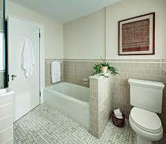 Patterned Floor Tiles Bathroom Brick Pattern Tile Bathroom Contemporary With Bathtub Charcoal