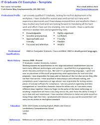 It Graduate Cv Example And Template Lettercv Com