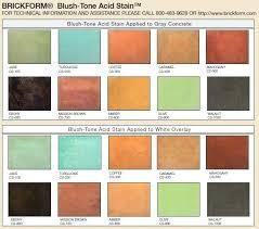 Brickform Acid Stain Color Chart Concrete Acid Stain Colors Itsara Co
