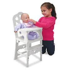melissa and doug wooden doll high chair 42 62 hayneedle