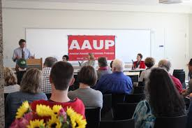 aaup uw chapter working for the faculty at the university of uw aaup hosted a team from rutgers university at our 9th annual meeting guests included david hughes aaup aft union president karen stubaus