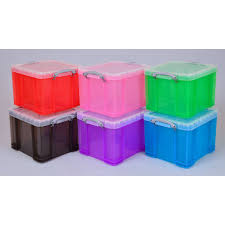 Really Useful Box Stackable Storage Box 35 L Assorted Colours 480 x 390