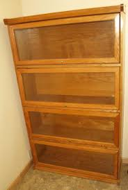 ... Lawyer Used Bookcases Four Shelves Wooden Glass Doors Arsip Filing  Cabinet French Library Single Shelving For ...