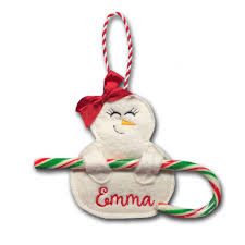 Candy Cane Applique Design Snowgirl Candy Cane Holder Christmas Embroidery Christmas