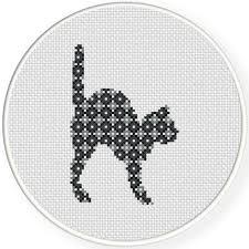 Cat Cross Stitch Patterns Unique Scaredy Cat Cross Stitch Pattern Daily Cross Stitch