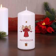 Weihnachts Kerze Mit Engel Und Name