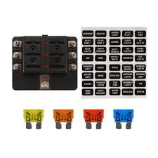 12v 24v 6 way blade fuse box holder bus bar w led failure warning 12v fuse block wiring diagram at Fuse Box 12v