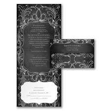 inexpensive seal and send wedding invitations. chalkboard flourish - seal \u0027n send invitation. wedding style with a flourish! this black and white invitation highlights inexpensive invitations