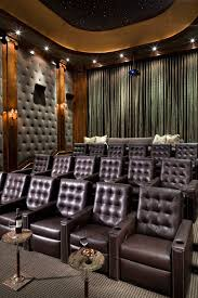 chic keurig cup holder in home theater traditional with theater curtains next to theater carpet alongside fabric wall panels and curtain panels