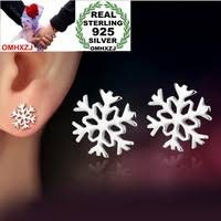<b>OMHXZJ Wholesale</b> 925 Sterling Silver Stud Earrings