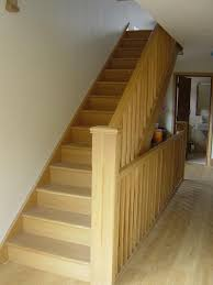 How To Hardwood Stairs White Oak Banister Stair Parts In Oak Loft Stairs Wall