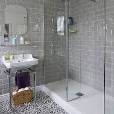 floor tiles for bathrooms. Bathroom-with-roll-top-bath-and-patterned-floor- Floor Tiles For Bathrooms R