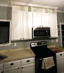 extend kitchen cabinets how to extend kitchen cabinets the ceiling crafted crown molding on before and