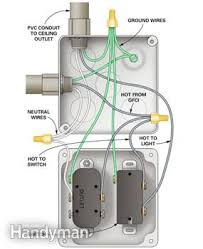 how to wire a finished garage the family handyman wiring diagram for outlet and switch