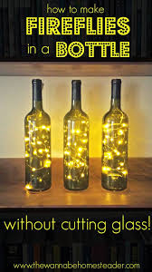 Add charm to any room with this easy DIY wine bottle lighting!