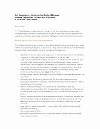 Resume Job Description For Construction Laborer Valid Examples And