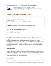 Basic Business Letters Purdue Owl Business Letter Levelings