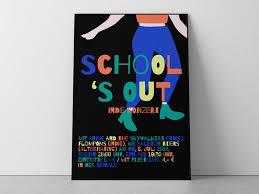 Concert Poster Design Schools Out Indie Concert Poster By Annika Hallerberg On