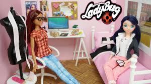 Ladybug Bedroom Miraculous Ladybug Marinette Doll Bedroom Easy Diy Custom Alya