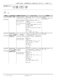 行催祭事 京都府観光連盟