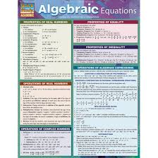 Algebraic Equations Bar Chart Study Guide
