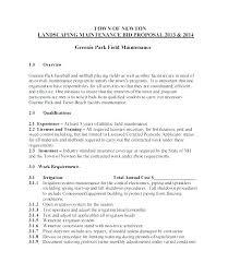 landscape maintenance proposal template sample commercial landscape maintenance contract free template