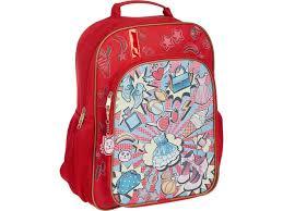 <b>Рюкзак 1 School</b> Треугольники Red-Black 678901 - Агрономоff