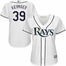 Majestic Kevin Kiermaier Tampa Bay Rays Womens White Cool