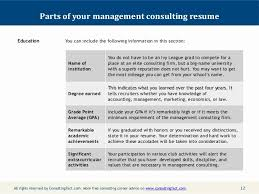 Resume Bullet Points Sample Consulting Elegant Management Consulting