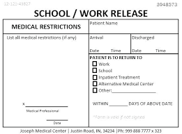 Doctors Note For Work Urgent Care Doctors Note Templates Doc Free Premium Label For Google