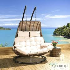 2 person swing chair outdoor rattan 2 person garden hanging chair sunbed brown cream new 2 person outdoor swing chair