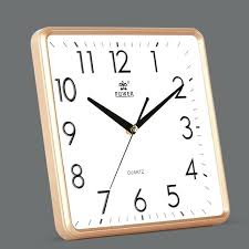 power inch modern non ticking silent quartz og digital square bedroom kitchen wall clock clocks